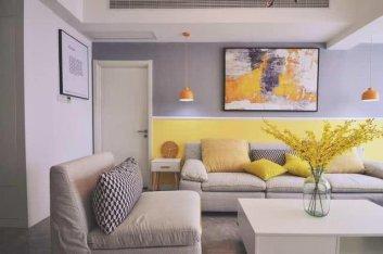 现代化温馨小两居,亮色处理竟然也能做