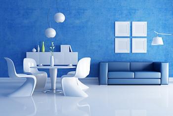 徐州装修墙面色彩清爽的蓝