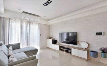 100平两室效果图玄关温馨迷人,客厅更